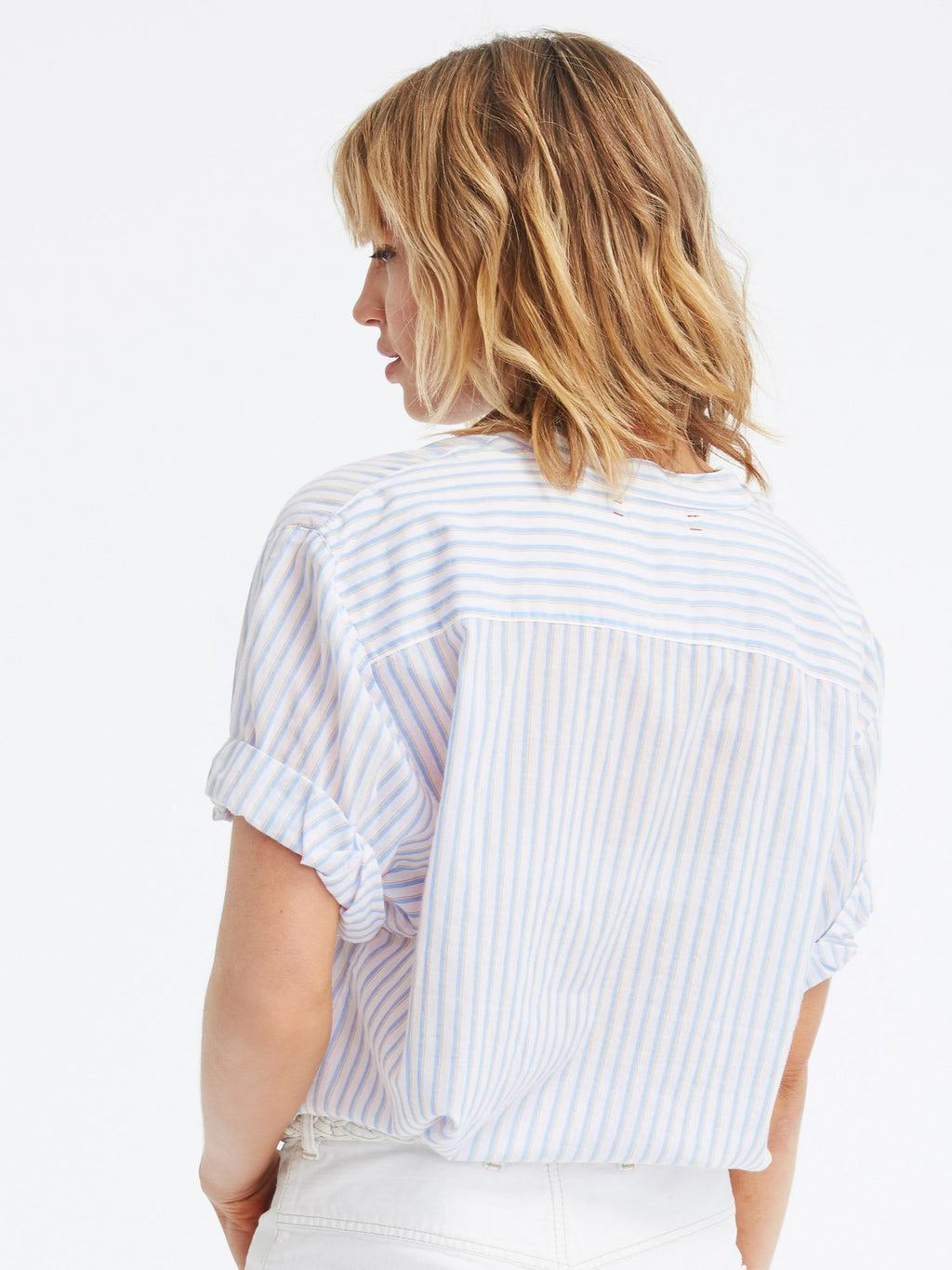 Xirena Kayden Shirt in Stripe Celeste