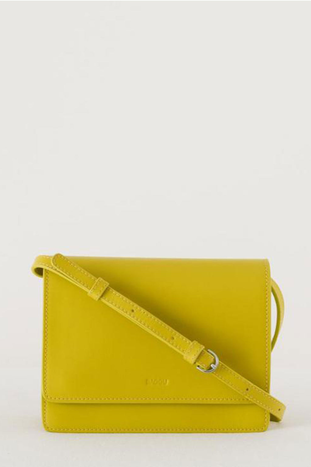 Baggu Small Structured Crossbody in Citron