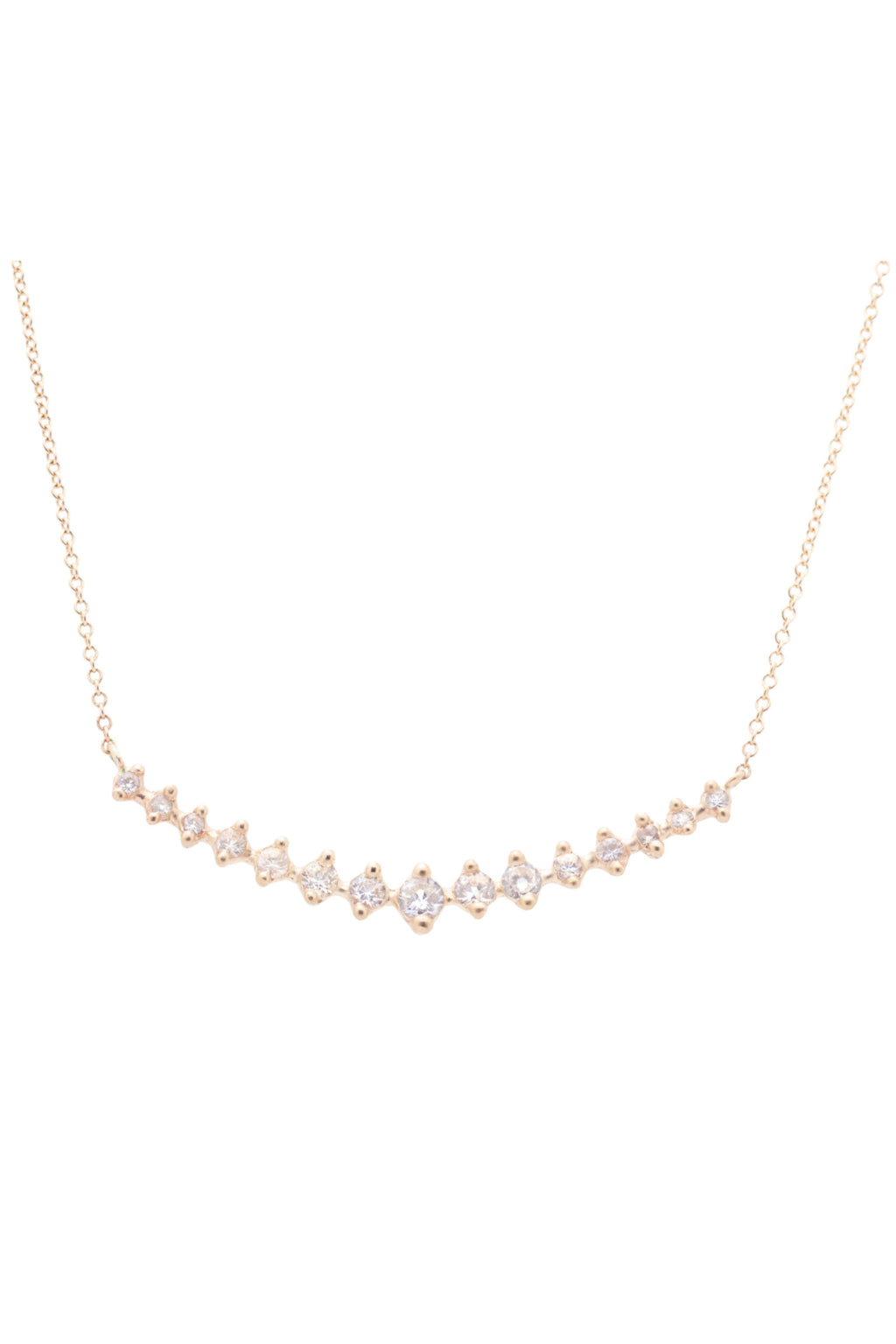 Valley Rose Meissa Necklace in White Sapphires