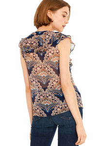 Misa Trisha Top in Resort Paisley