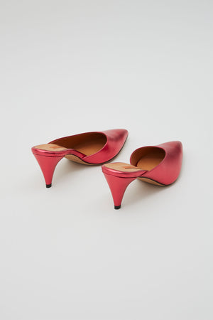 Rachel Comey Fount Mule Kitten Heels in Cherry