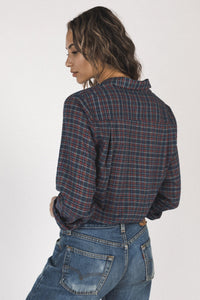 Trovata Grace Classic Shirt in Heritage Plaid