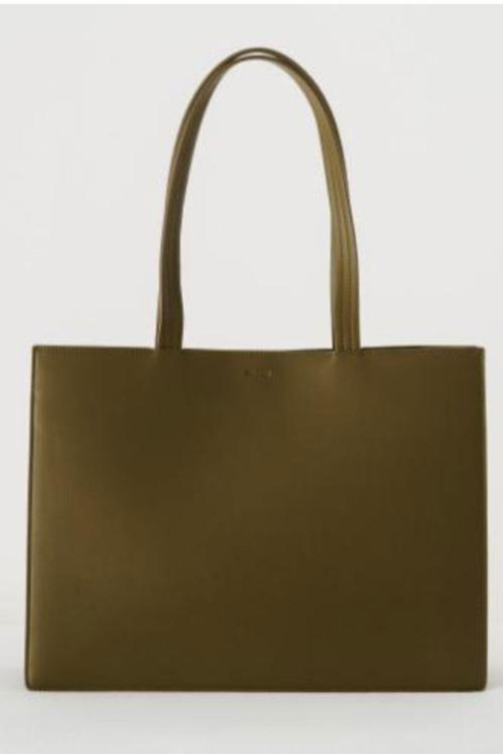 Baggu Large Leather Retail Tote in Kelp
