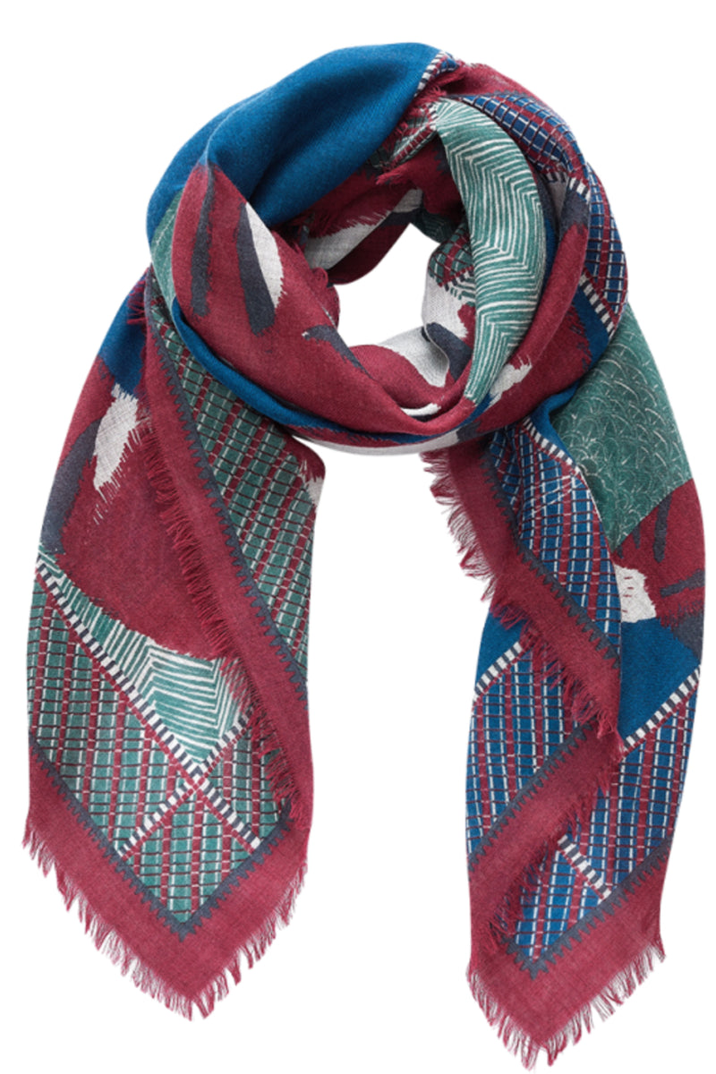 Inouitoosh Wool Jean Loup Scarf in Blue