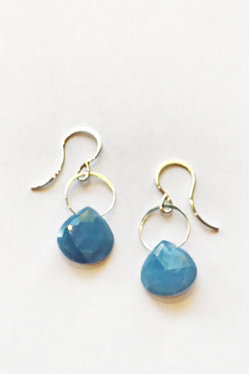 Melissa Joy Manning Sterling Silver Blue Opal Drop Earrings