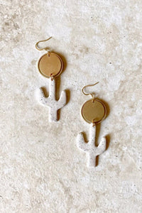 Elizaberry Cactus Sun Earrings