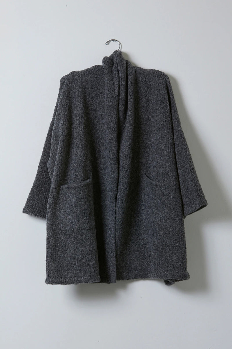 Atelier Delphine Haori Coat in Charcoal