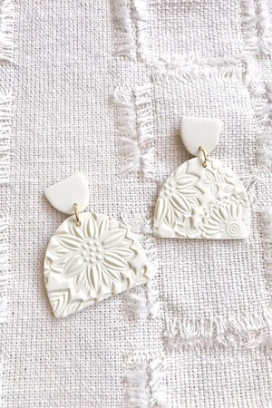 Elizaberry Wildflower Earrings in Cream