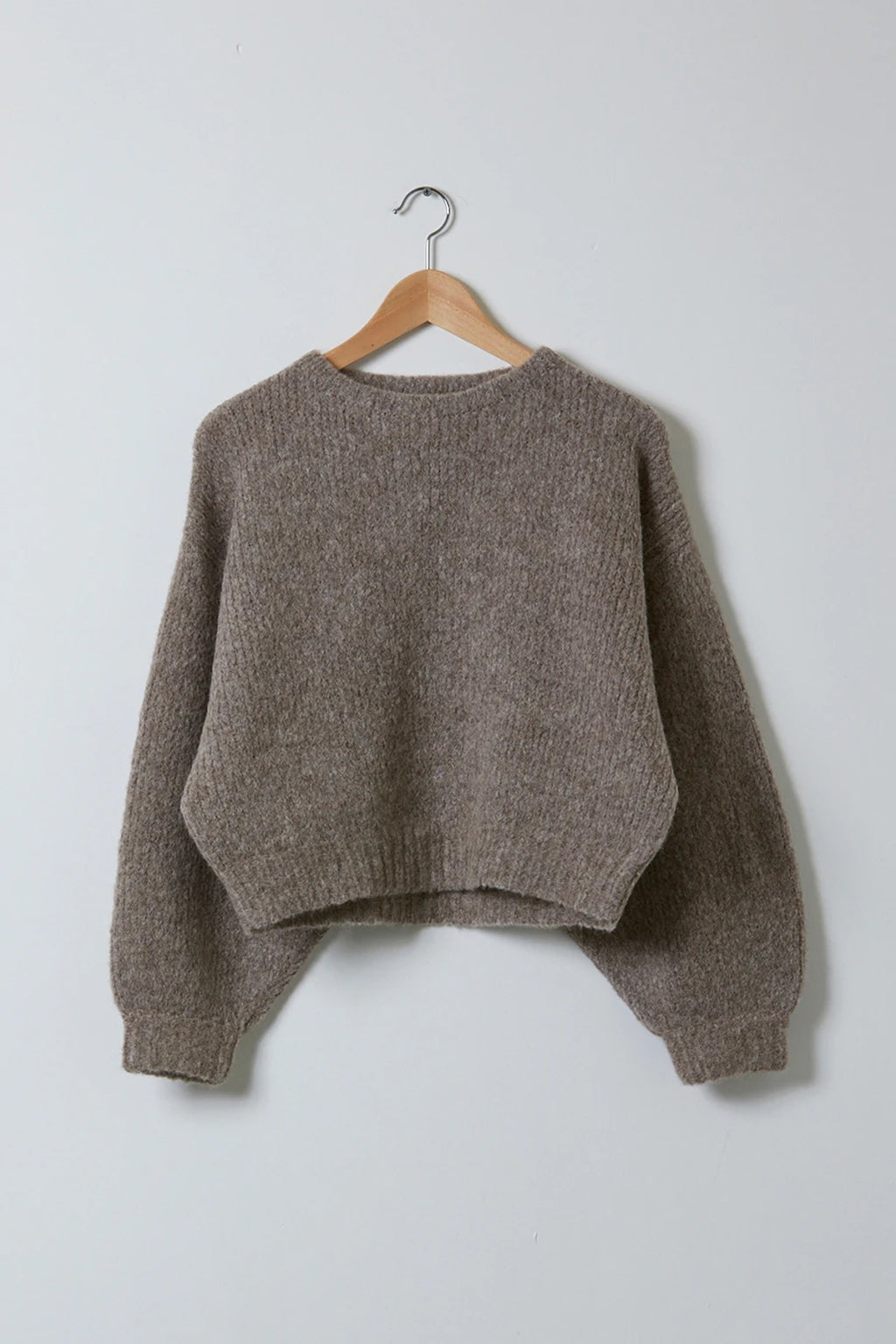 Atelier Delphine Balloon Sleeve Sweater in Deer
