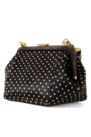 Clare Vivier Hair-On Le Box Bag In Swiss Dot
