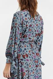Natalie Martin Danika Long Sleeve Dress In Wildflower Slate