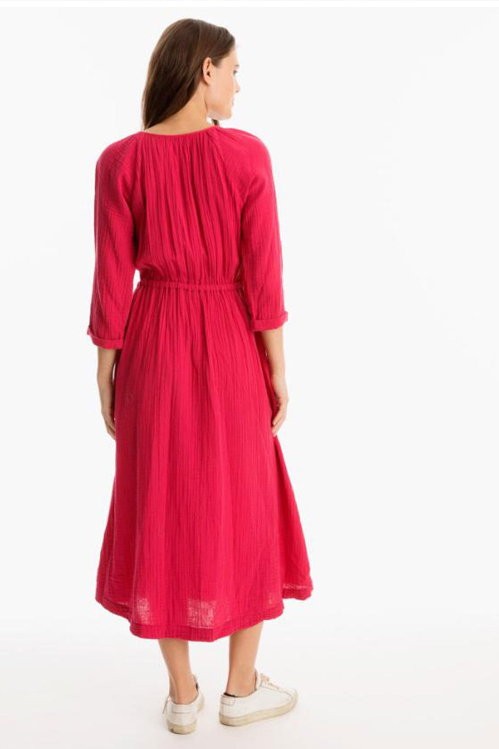 Xirena Cotton Darren Dress In Red Berry