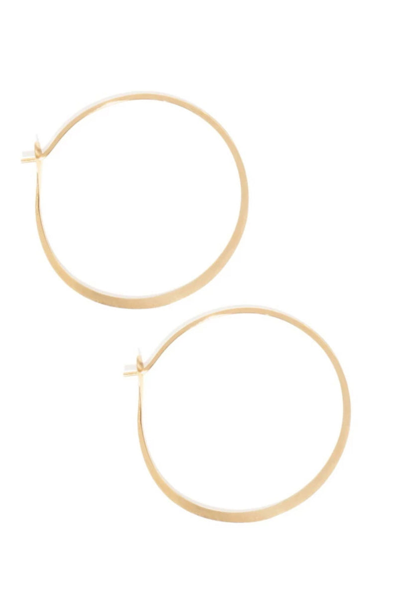 Melissa Joy Manning 14k Yellow Gold Extra Large Hoop