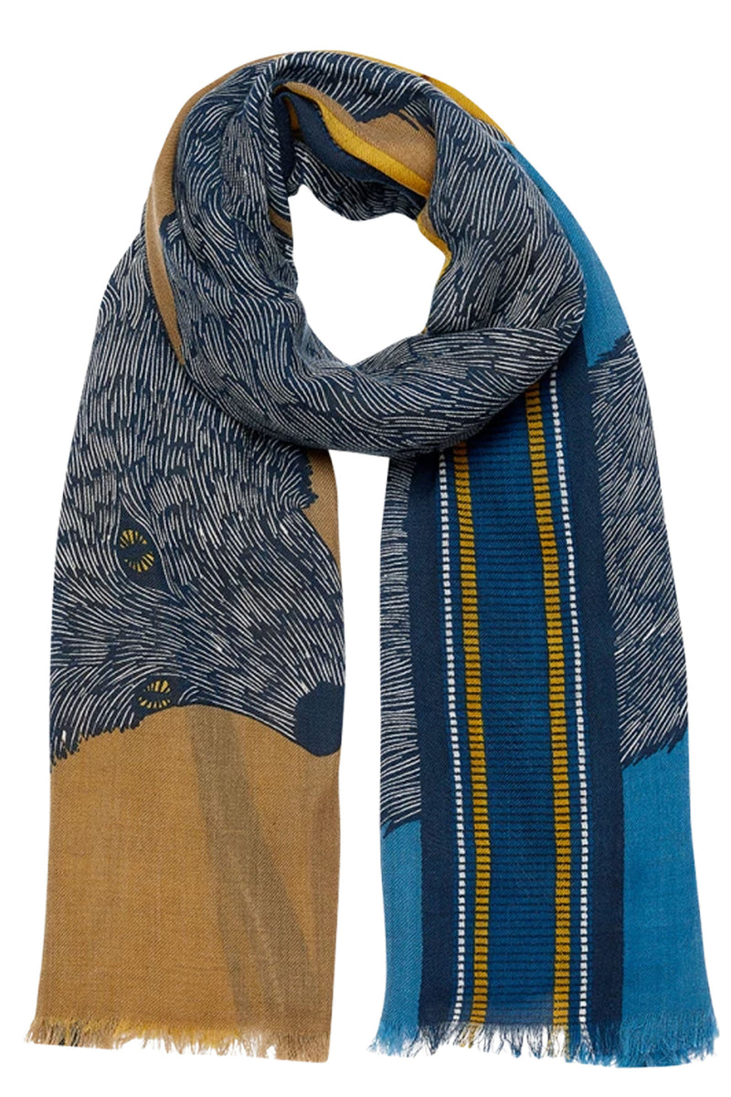 Inouitoosh Soto Fox Wrap in Gold & Blue