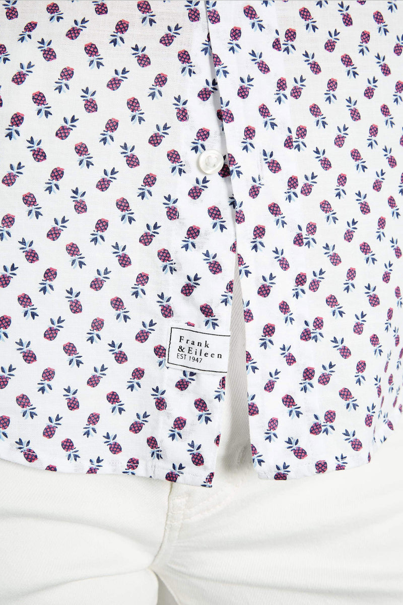 "Frank and Eileen """"Barry"" Italian Cotton Pink Pineapple Button Down"