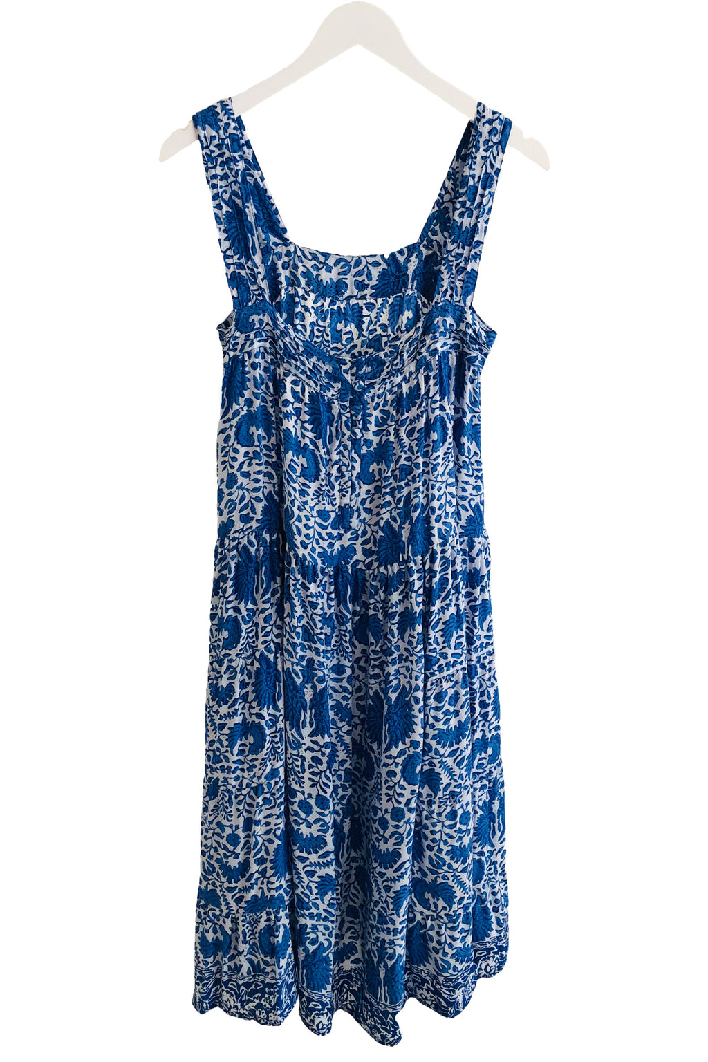 Natalie Martin Jasmine Dress in Wing Print Corfu Blue