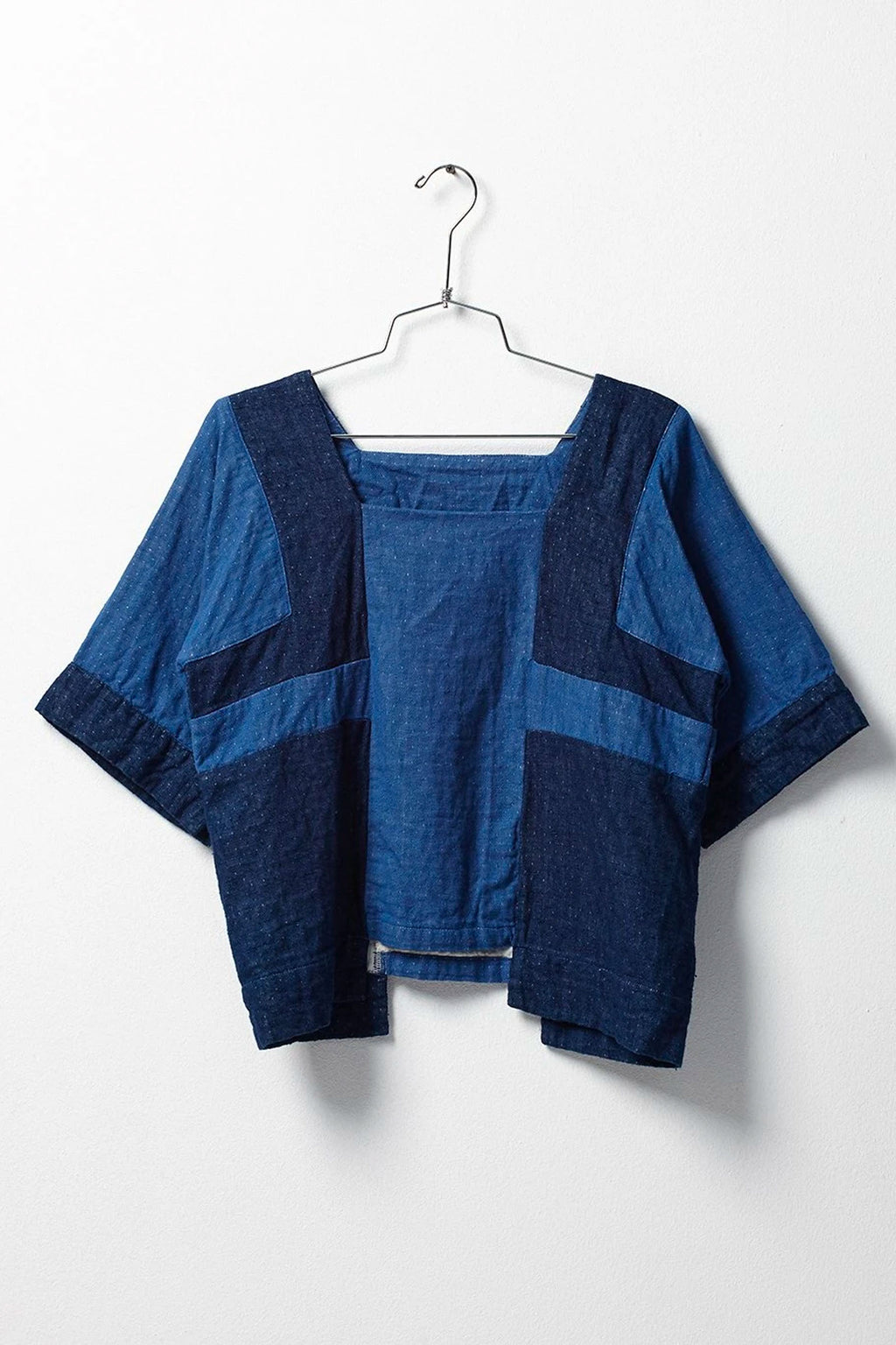 Atelier Delphine Block Top in Indigo Patchwork