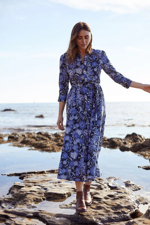 Trovata Eliot Long Shirtdress in Coastal Floral