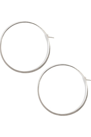 "Melissa Joy Manning 1.25"" Sterling Silver Large Hoop Earrings"