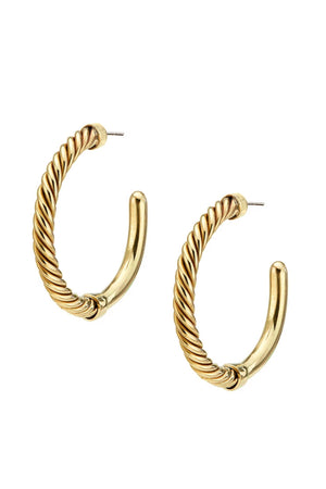 Soko Uzi Hoop Earrings in Brass
