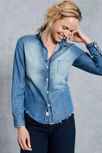 Frank and Eileen Barry Distressed Vintage Wash Button Up