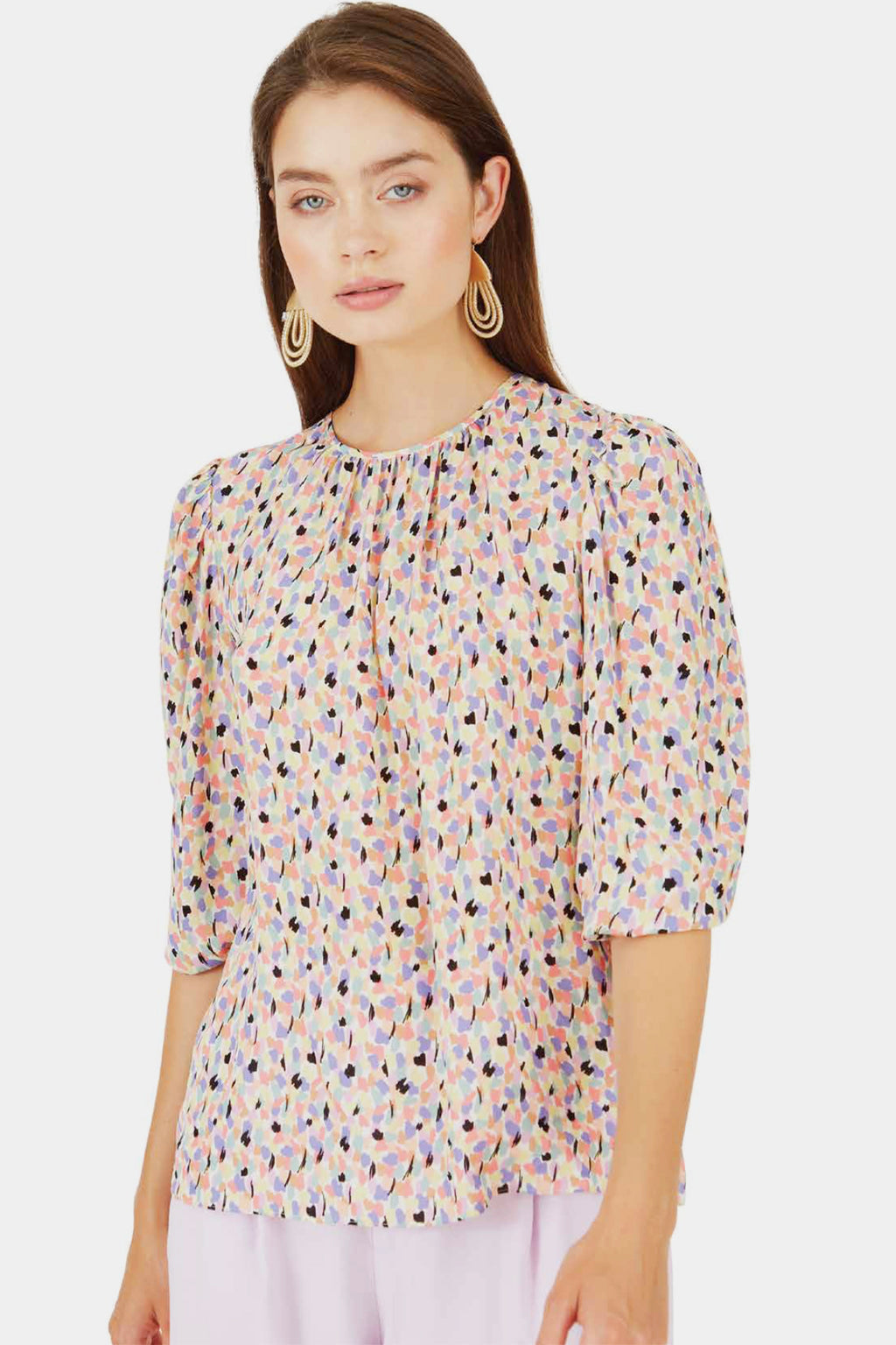Caballero Kelly Top in Multi Print