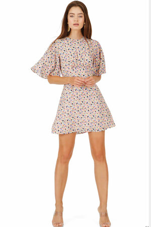 Caballero Lexi Dress in Spring Paint Blots