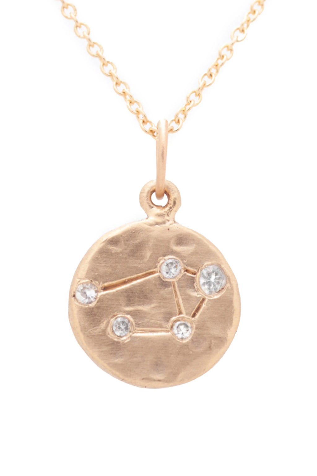 Valley Rose Libra Constellation Necklace in White Sapphire