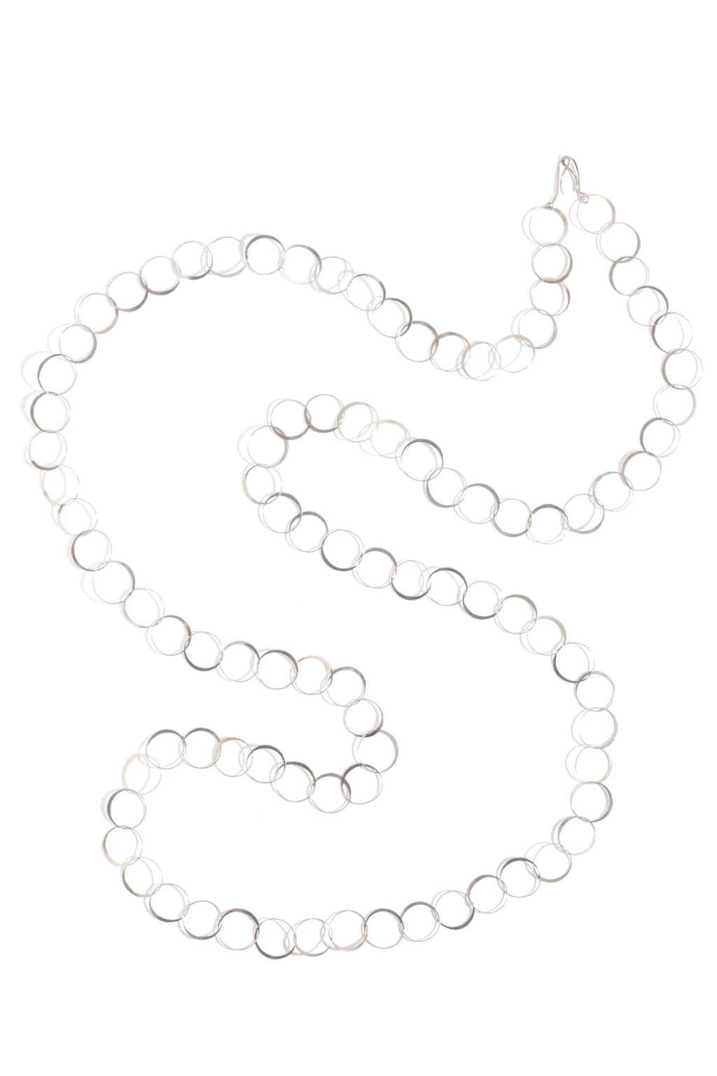 Melissa Joy Manning Sterling Silver Half Flat Necklace