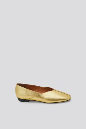 Rachel Comey Bombi Flat Shoes in Metallic Gold