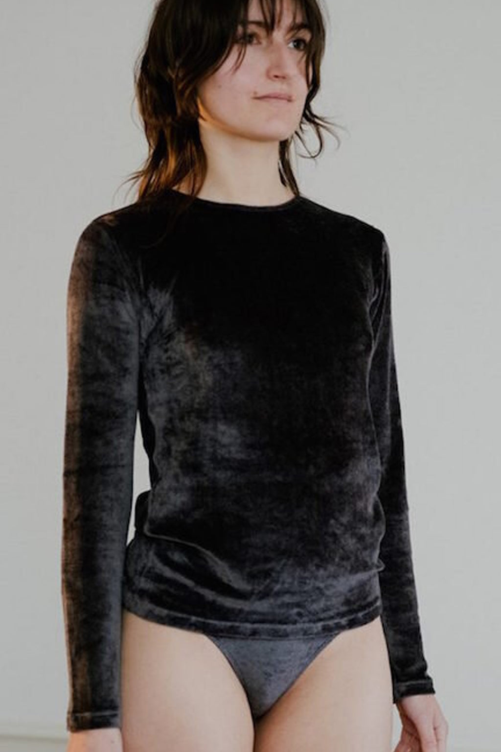 Baserange Omo Long Sleeve Tee in Charcoal