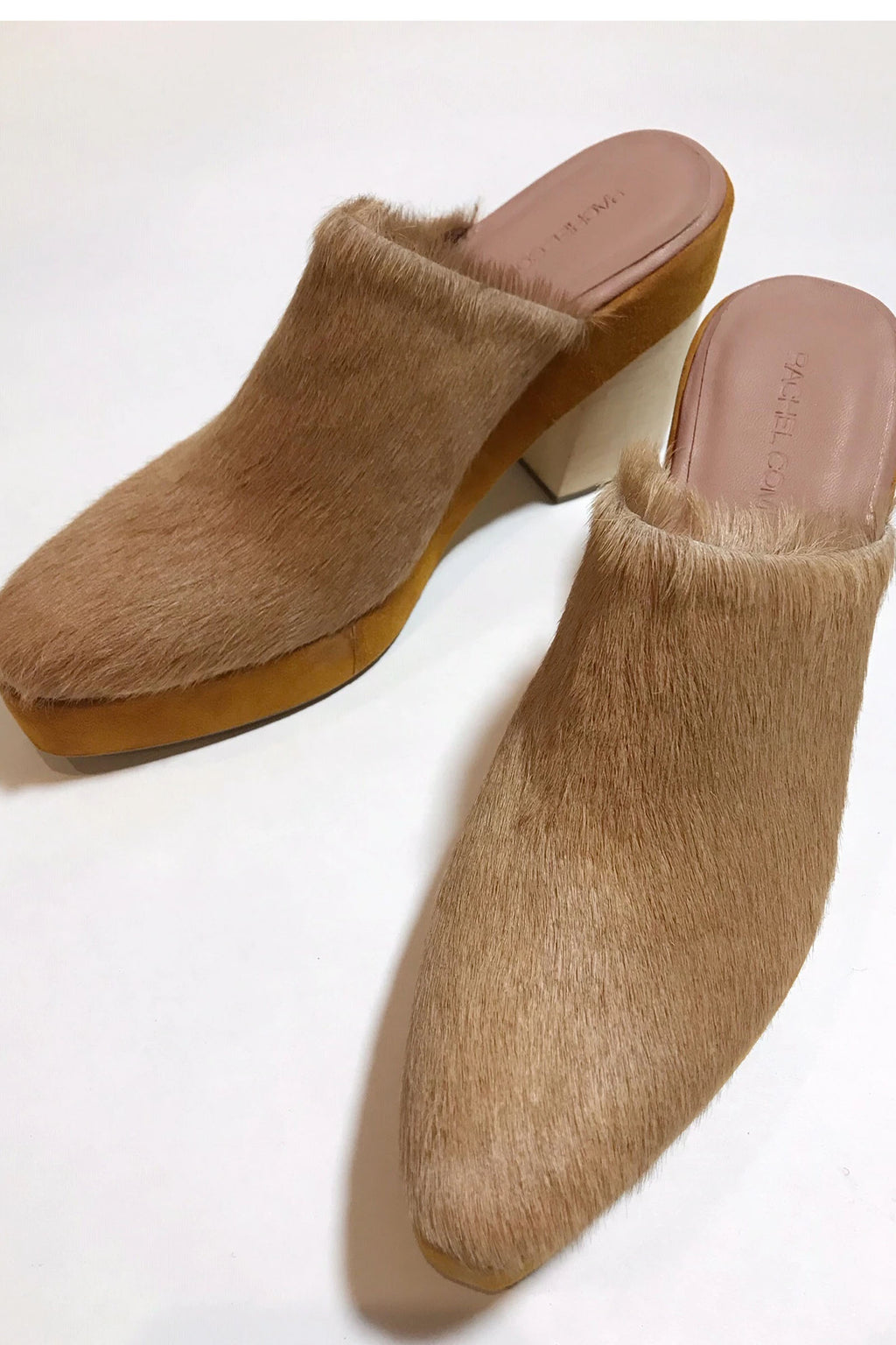 Rachel Comey Cow Leather Bandy Clog In Camel