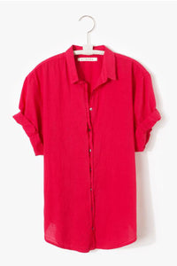Xirena Cotton Channng Shirt In Sugar Poppy