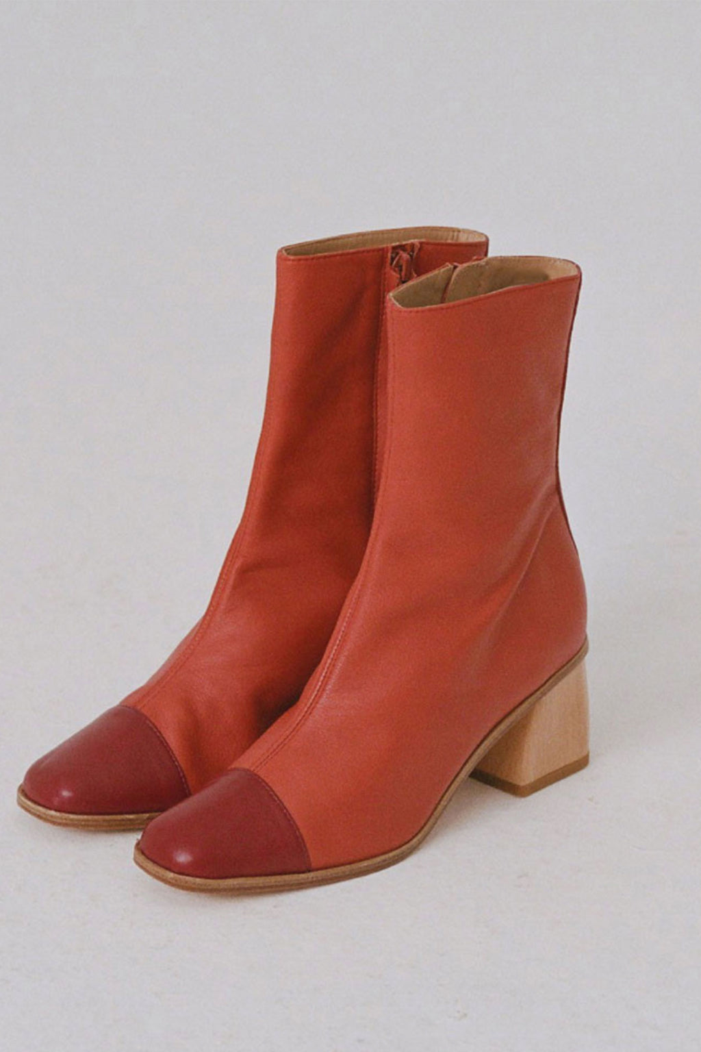 Paloma Wool Emilia Solar Two Color Red Over Ankle Boot