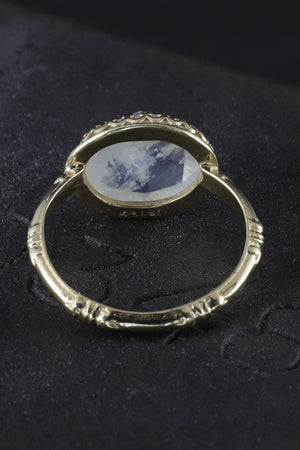 Becky Kelso 14K Gold Faceted Moonstone Ring