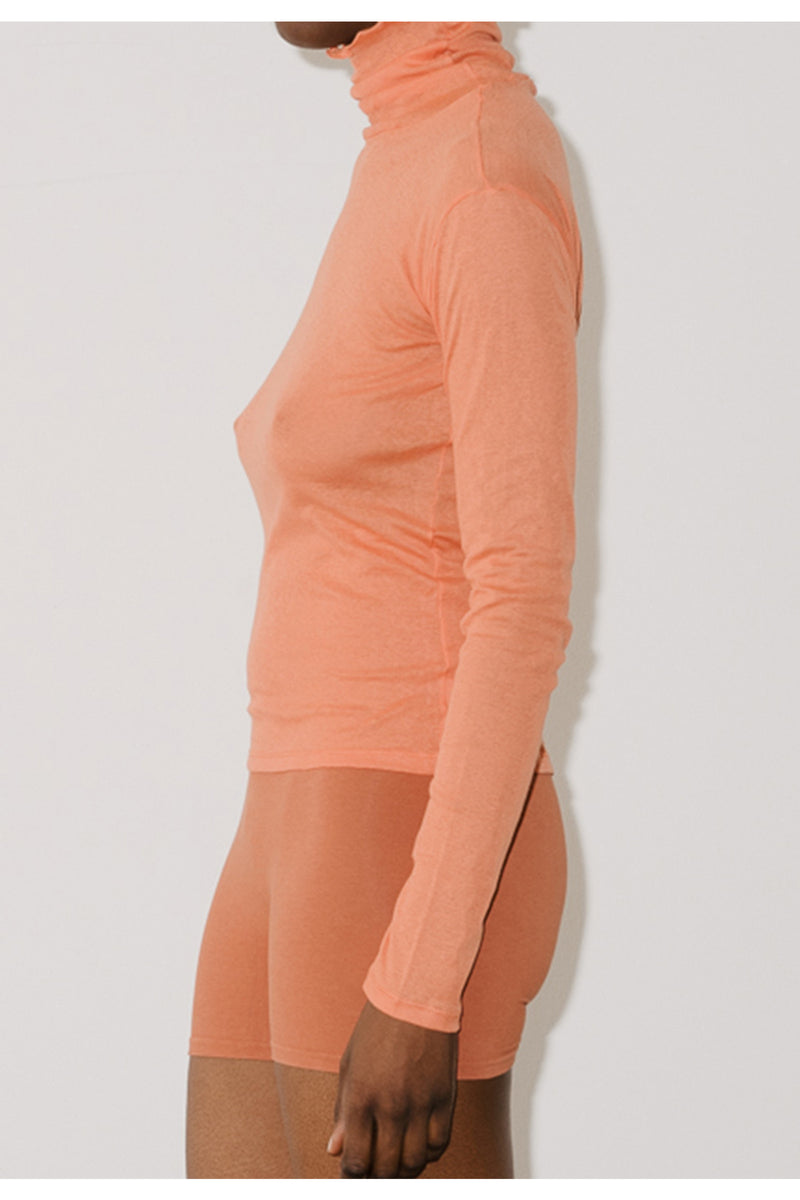 Baserange Puig Turtleneck Top in Burnt Orange