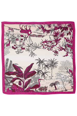 Inouitoosh Silk Adventure Scarf in Fushia