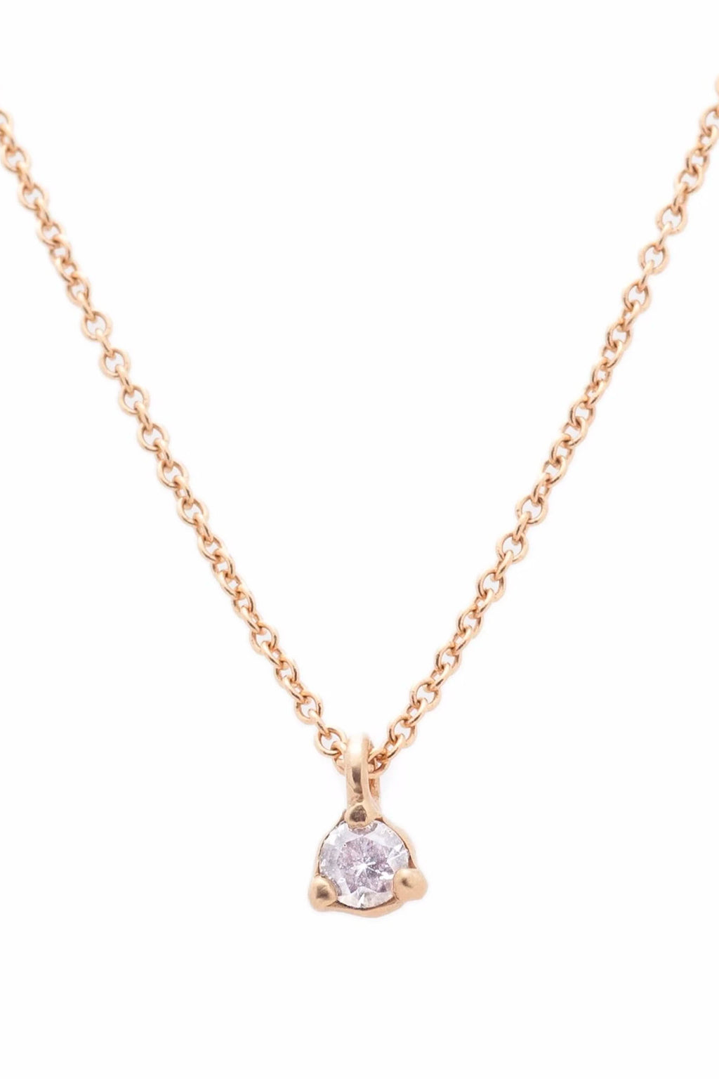 "Valley Rose Diamond Stella Necklace with 16"" Gold Chain"