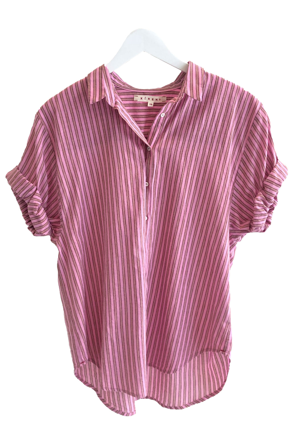 Xirena Poplin Channing Shirt in Bloom Stripe