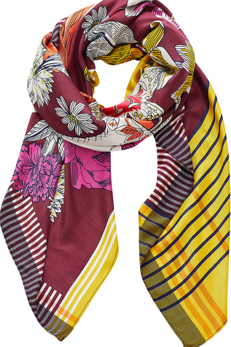 Inouitoosh Silk Apoline Scarf in Plum