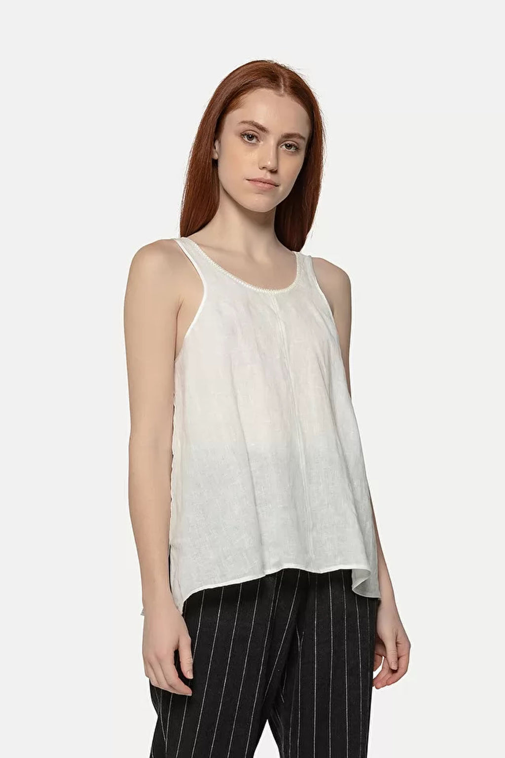 Forte Forte Shimmering Linen Top in White