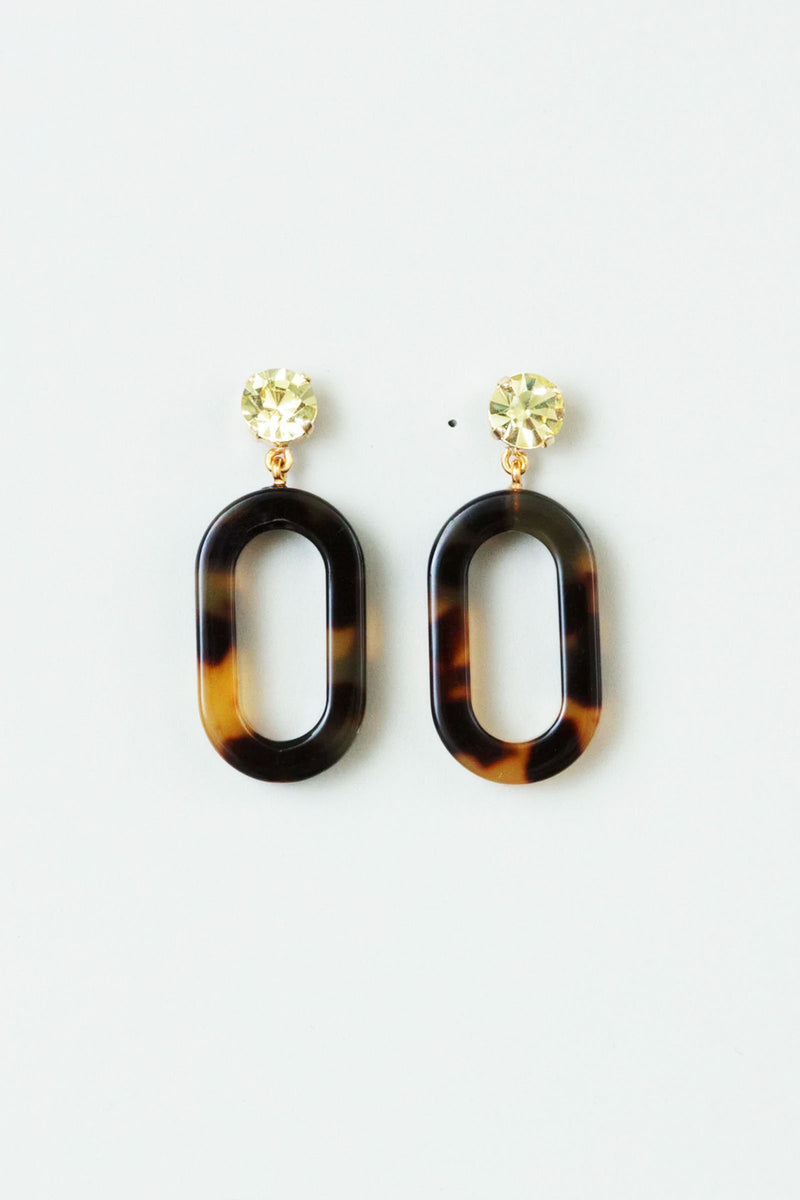 Rachel Comey Celeste Earrings in Olivine-Tortoise