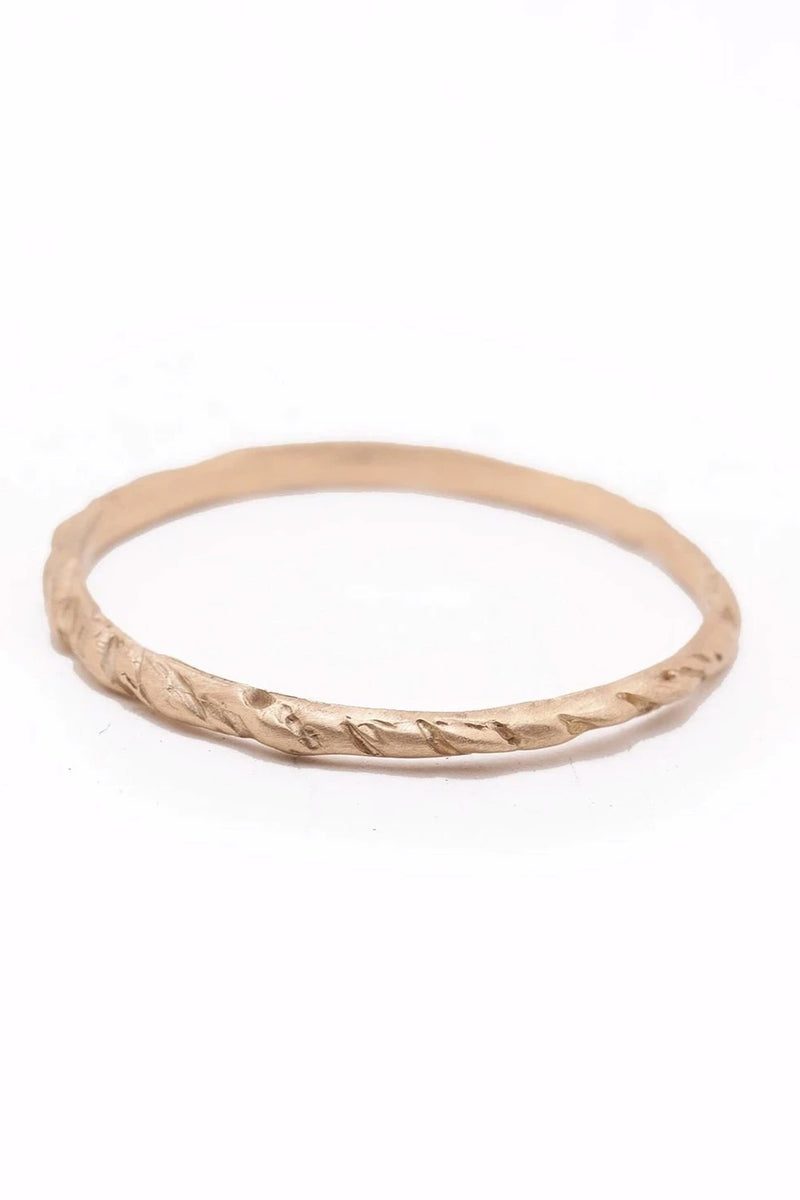 Valley Rose 14K Gold Branch Band Ring