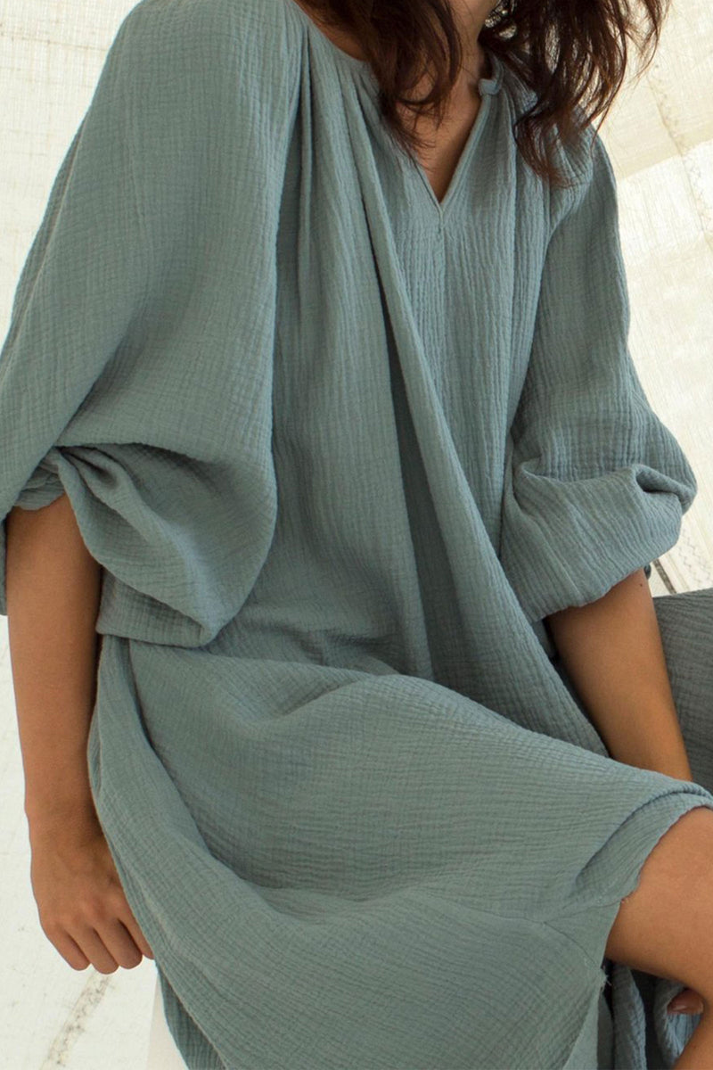 Loup Charmant Peasant Tunic in Seafoam