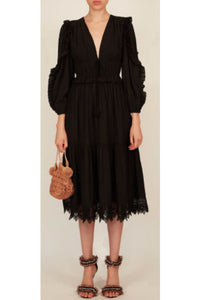 Ulla Johnson Sheila Dress in Noir (Black)