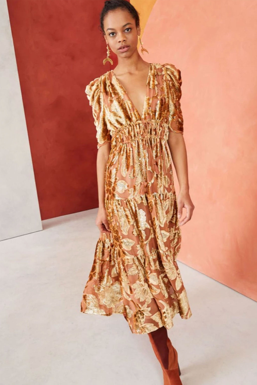 Ulla Johnson Loretta Dress in Rose Gold