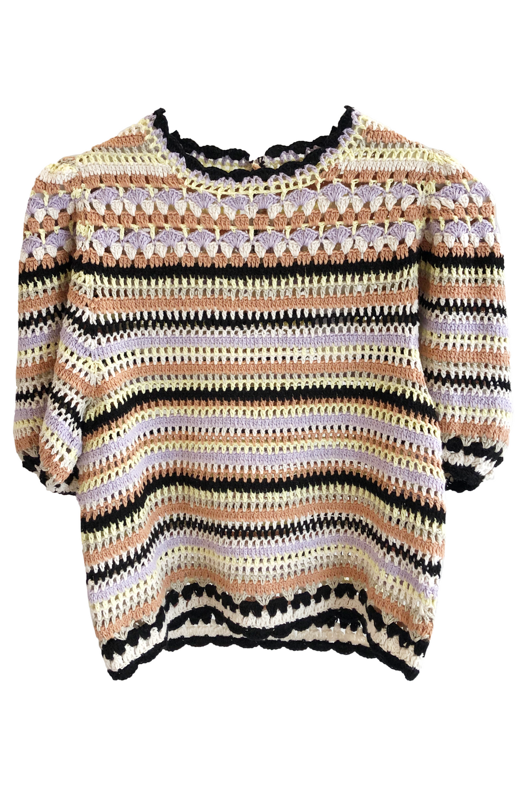 Ulla Johnson Crochet Irene Pullover in Honey
