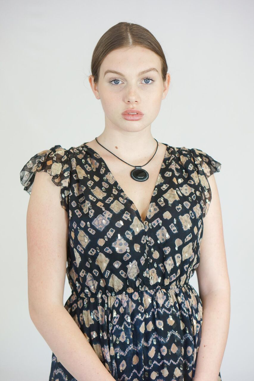 Robin Mollicone Beaded Onyx Carina Necklace