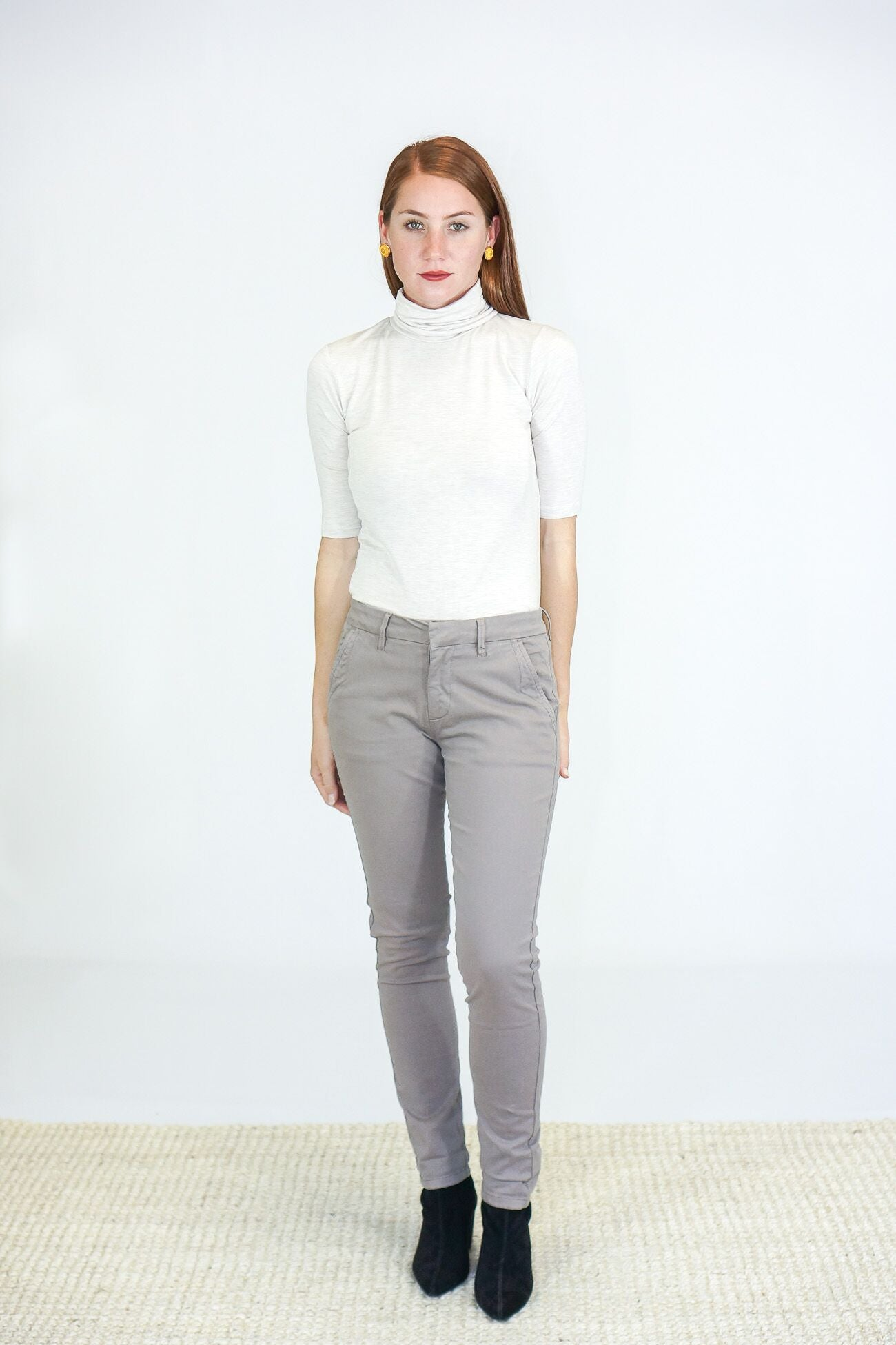 Reiko Chino Trousers in Taupe