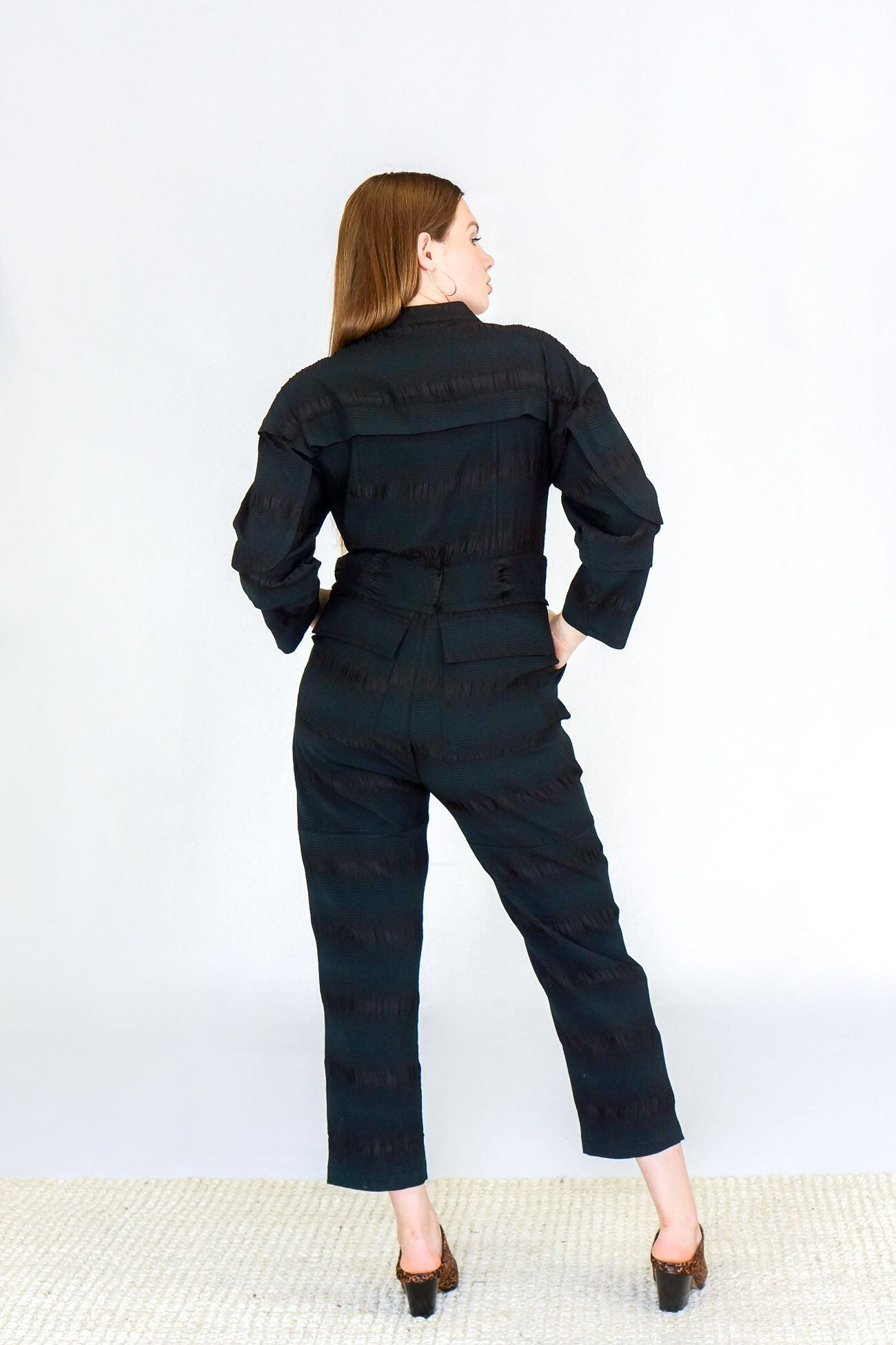 Rachel Comey Peddlers Pucker Jumpsuit in Black